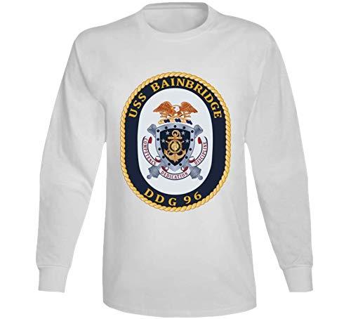 2XLARGE - Navy - Uss Bainbridge (ddg-96) Wo Txt Long Sleeve - White