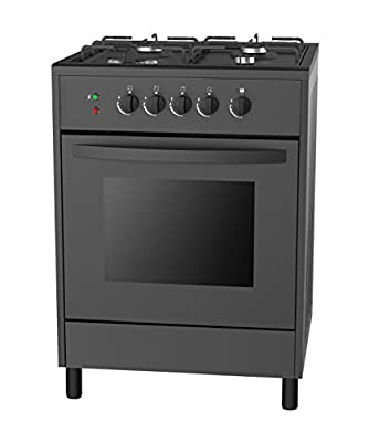 "Empava 24"" Slide-In Free Standing Gas Range 4 Italy Sabaf Sealed Burner Cooktop with 2.3 Cu. Ft Single Oven"