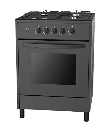 empava 24 slide in free standing gas range 4 italy sabaf sealed burner cooktop with 2 3 cu ft. Black Bedroom Furniture Sets. Home Design Ideas