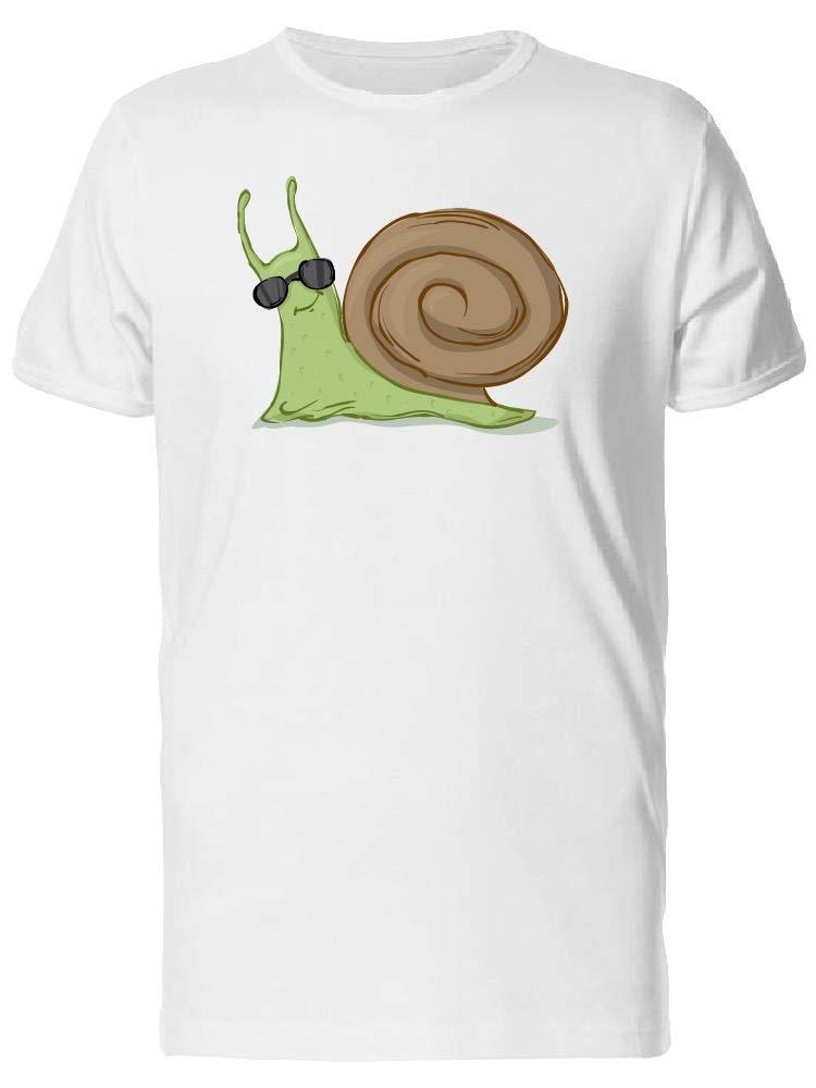 Cool Snail In Sunglasses Tee Men's -Image by Shutterstock
