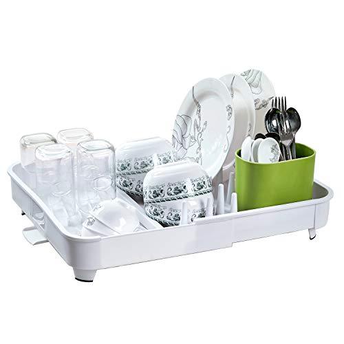 Adjustable Folding Plastic Dish Drying Rack Enamel Utensil H