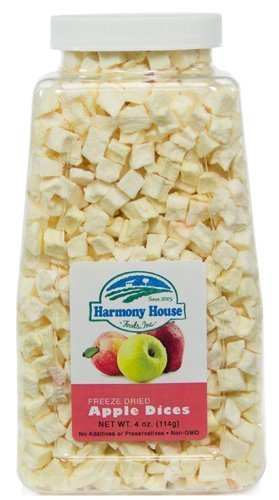 (Harmony House Foods Freeze-Dried Apple, dices (4 oz, Quart Size Jar) by Harmony House Foods)