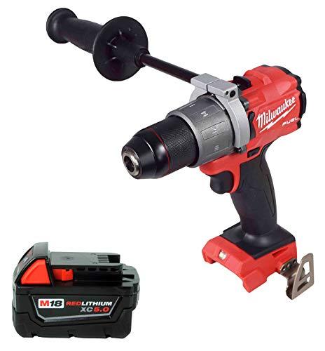 Milwaukee 2804-20 18V 1/2″ Hammer Drill,48-11-1850 5.0Ah Battery