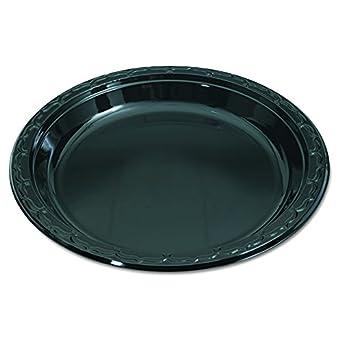 Genpak BLK10 Silhouette Black Plastic Plates 10 1/4 Inches Round (Case  sc 1 st  Amazon.com & Amazon.com: Genpak BLK10 Silhouette Black Plastic Plates 10 1/4 ...