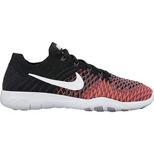 Nike Free Tr Flyknit 2 Womens Cross Training Shoes (8 M US, Black/White-Hyper Punch)