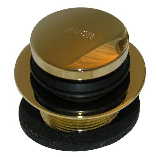 Simpatico 31365P Tip Toe 1-1/2-Inch Coarse Thread Bath Tub Strainer and Stopper, Polished Brass by Simpatico