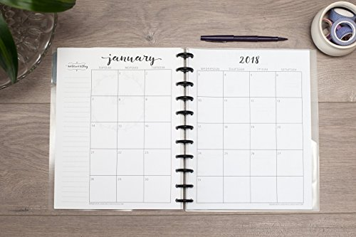 2019 Monthly Calendar for Disc-Bound Planners, Fits 11-Disc Circa Letter, Arc by Staples, TUL by Office Depot, Letter Size 8.5''x11'' (Notebook Not Included) by Natalie Rebecca Design