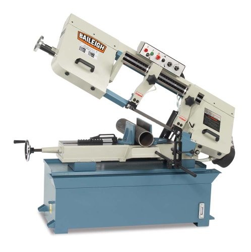 Baileigh BS-300M Hydraulic Horizontal Band Saw, 1-Phase 220V, 2hp Motor, 1'' Blade, 9.84'' Round Capacity by Baileigh