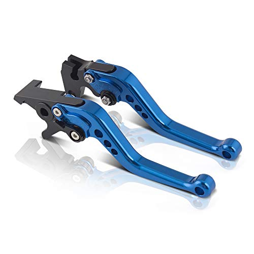 Short Adjustable Brake Clutch Levers -CNC Motorcycle Brake and Clutch Levers for YAMAHA YFM700 Raptor 700R 2007-2018 ()