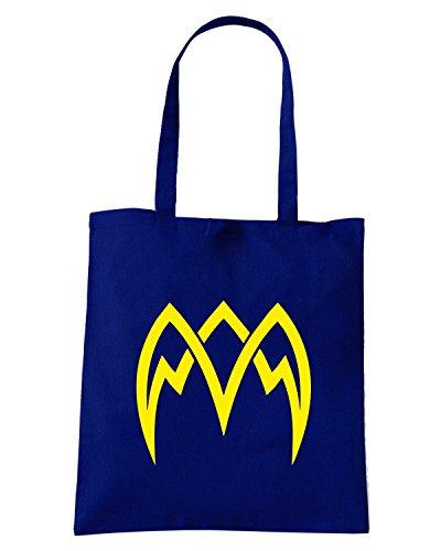 T-Shirtshock - Bolsa para la compra FUN0453 2282 tribal sticker design 14 25673 Azul Marino