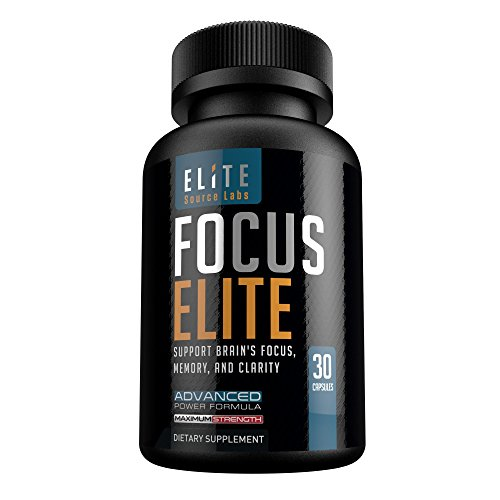 Brain Booster Supplement for Focus, Memory, & Clarity by Elite Source Labs, Advanced Nootropic Formula with Ginkgo Biloba Leaf, St. John's Wort, L-Glutamine, Bacopa Monnieri, and More, 30 Capsules