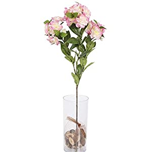 Skyseen 5Pcs Artificial Silk Flowers Begonia Fake Floral Bouquet for Wedding, Room, Home, Hotel, Party Decoration 94