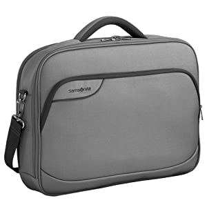 Samsonite Laptop Bag, Notebooktasche Monaco ICT 18.4″, grey – grey, 45679