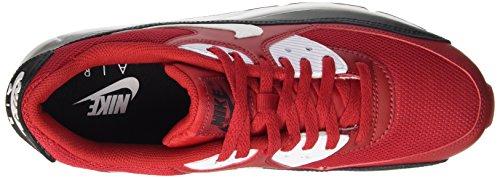 Nike Herren Air Max 90 Essenziale Marciume Low-top (palestra Rosso / Bianco-nero-bianco)