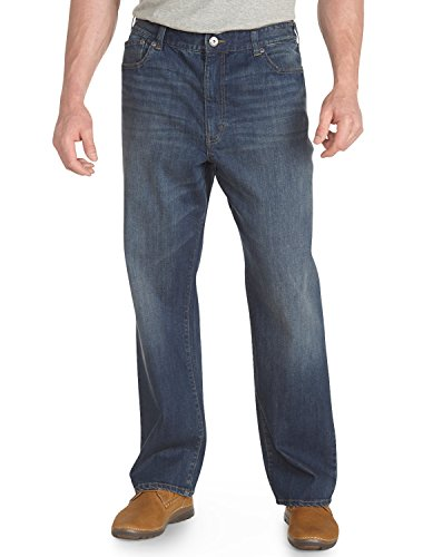 b2deabef224 True Nation DXL Big and Tall Washed Blue Relaxed-Fit Jeans - Buy ...