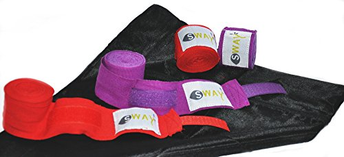 Hand Wraps (2 sets) for Martial Arts, Muay Thai, MMA, Kick boxing, Boxing 180