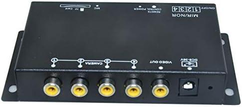 車のDVRレコーダー9-36V /駐車支援ビデオスイッチコンバイナーボックス360度左/右/フロント/リアカメラ (カードなし)