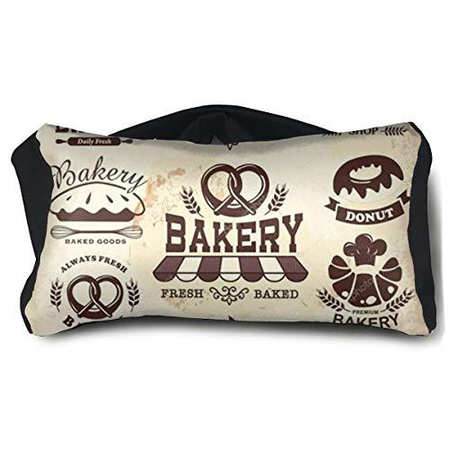 Eye Pillow Colección De Panadería Retro Vintage Trendy Unisex Portable Blindfold Train Sleep Eye Bag Bed