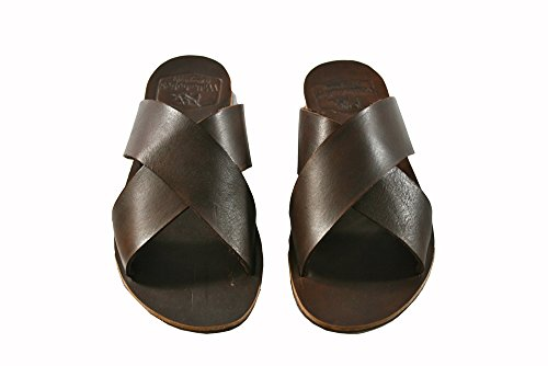 Brown Channels Leather Sandals for Women & Men - Handmade Leather Sandals, Casual Leather Flats, Unisex Sandals, Genuine Leather Sandals by - Designer Channel