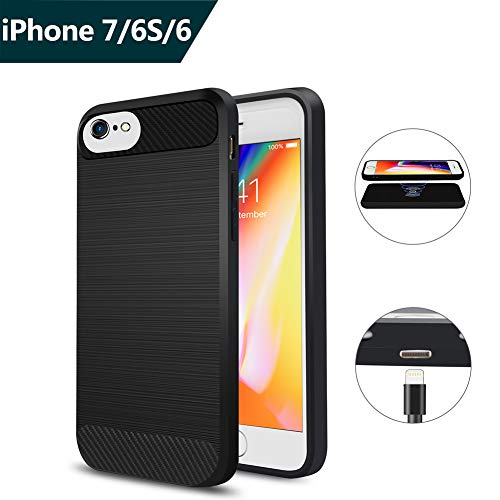 Qi Wireless Charger Charging Receiver Case, ANGELIOX Wireless Charging Compatible iPhone 7 / 6s / 6 [3rd Generation] Fast Charging Shockproof Protective Phone Cover (Not Battery Case) - 4.7