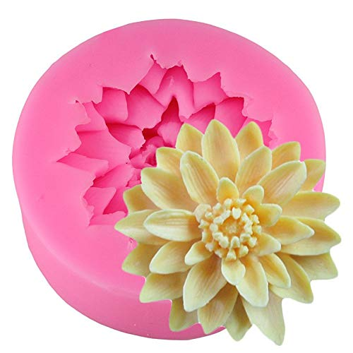 - 1 piece 3D Lotus Chrysanthemum Flowers cakenew Decorating Tools DIY Baking Chocolate Candy Fondant Silicone Mold Soap Resin Clay Mould