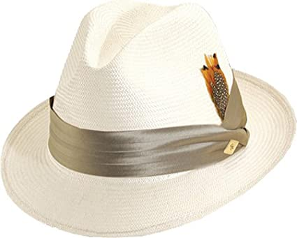 5de1cebc STACY ADAMS Men's Shantung Center Dent Hat, Grey, M at Amazon Men's ...