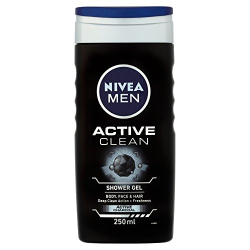 Nivea Men Active Clean Shower Gel, - Body Gel Men Cleansing