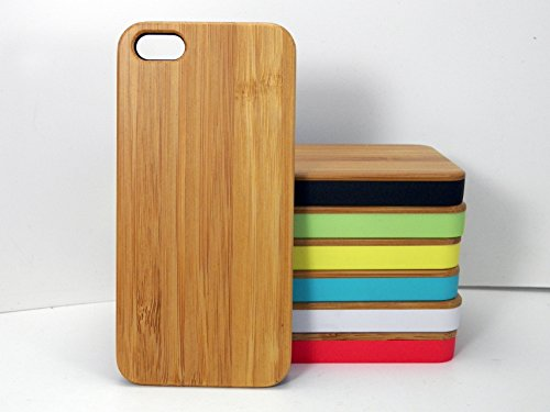 - iPhone 5C Bamboo Green Trim Wood Case Eco Friendly Natural Grain Protective Cover Plain Sleek Minimialist Skin
