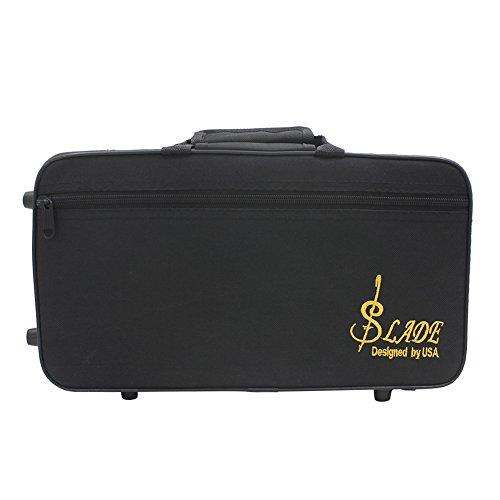 Sac de rangement pour clarinette résistant à l'eau Sac de rangement en tissu épaissi rembourré en mousse noire avec sangle pour clarinette