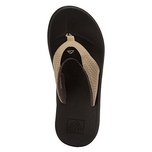 Rev Mens Rover Sandal / Flip Flops / Toffel Skodon, Svart / Tan, Storlek 11