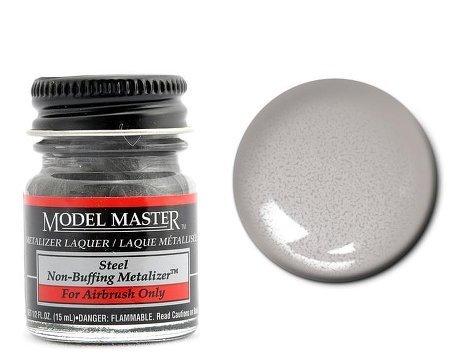 Steel Non Buffing Metalizer Enamel Paint .5oz Bottle