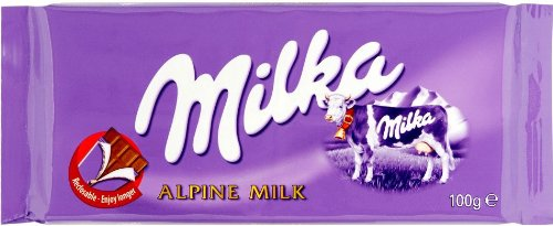 Milka Alpine Milk Chocolate, 3.5-Ounce Bars (Pack of 10)