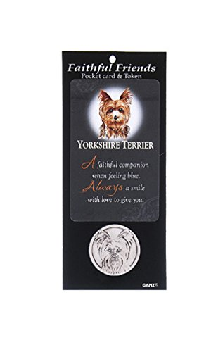 Ganz Faithful Friends Pocket Card & Token - Yorkshire Terrier