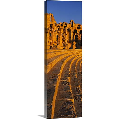 GREATBIGCANVAS Gallery-Wrapped Canvas Entitled Old Ruins of an Amphitheater, Roman Theater, El Djem, Mahdia Governorate, Tunisia by 12