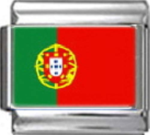 - Stylysh Charms Portugal Portuguese Flag Photo Italian 9mm Link PC142