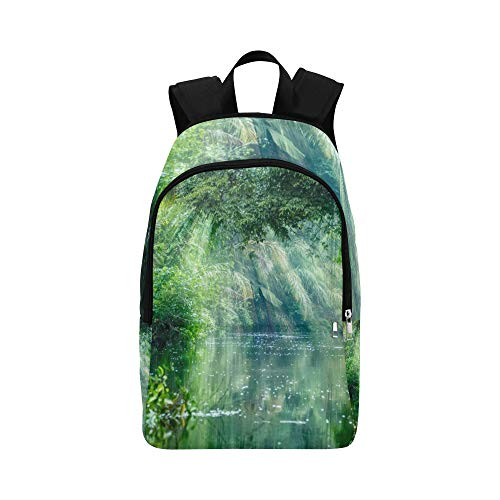(VvxXvx Scenery in The Primitive Rainforest Casual Daypack Travel Bag College School Backpack for Mens and Women)