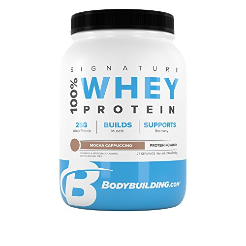 BodyBuilding.Com Signature 100% Whey Protein Powder | 25g of Protein per Serving (Mocha Cappuccino, 2 Lbs)
