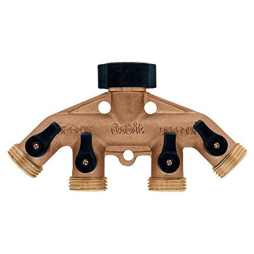 Orbit 4-Outlet Brass Hose Faucet Manifold