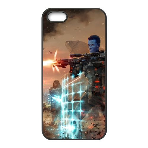 Star Wars The Old Republic coque iPhone 4 4s cellulaire cas coque de téléphone cas téléphone cellulaire noir couvercle EEECBCAAN00724