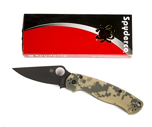 Spyderco ParaMilitary2 Black G-10 PlainEdge Knife