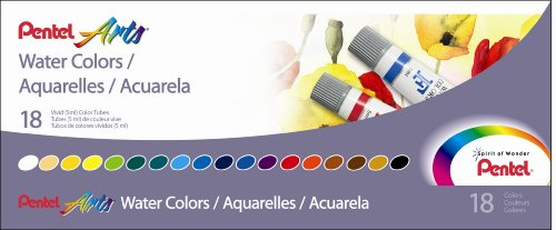 Pentel Water Colors Assorted WFRS 18