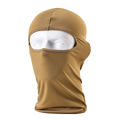 Maoko Motorcycle Outdoor Sports Hood Full Balaclava Windproof- Airsoft Riding Face Mask Hat Sandy (Different Spiderman Costumes)