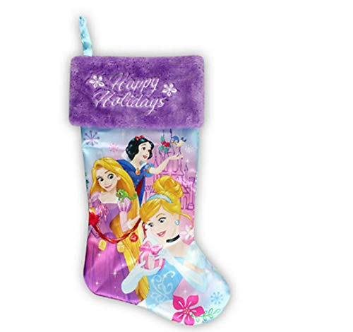 "Disney Princess Happy Holidays Christmas Stocking 18"""
