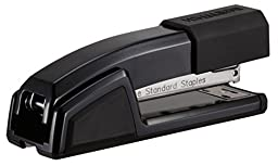 Bostitch Epic  All Metal Antimicrobial Stapler with Integrated Staple Remover and Staple Storage (B777-BLK)