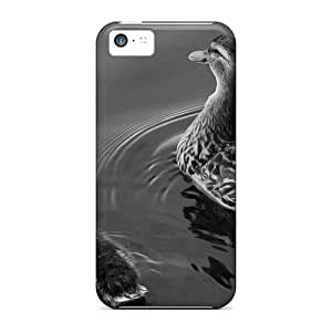 Awesome MPGVJ3682lkISO Intimate Lovers Defender Tpu Hard Case Cover For Iphone 5c- Mother Ducky