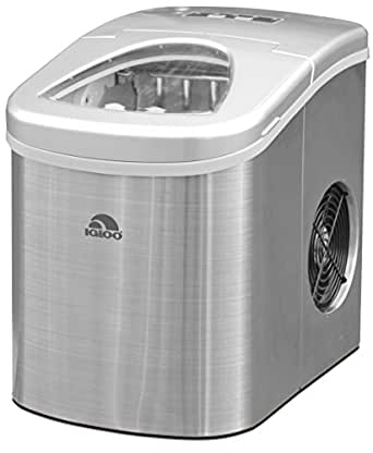 Igloo ICE105 Counter Top Compact Ice Maker, Stainless