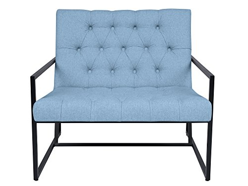 Mazzini Sofas - Silla, Tela, Azul, 89 x 85 x 78 cm: Amazon ...