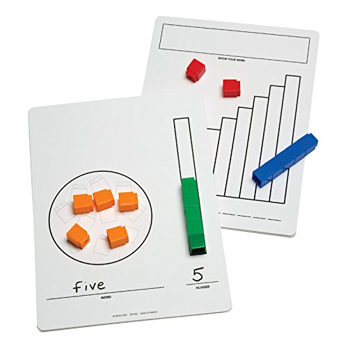 Didax Educational Resources Write-On/Wipe-Off Unifix Cube Mats