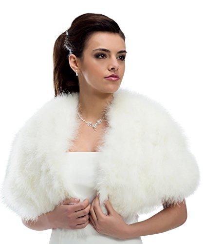 Giacca Donna Negozio Cape Ivory creme Sposa Mgt M184 Stola Di Bolero YHxqR1