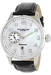 Stuhrling Original Men's 148A.BH.33152 Classic Lineage Grand Automatic Mother-Of-Pearl Date Watch